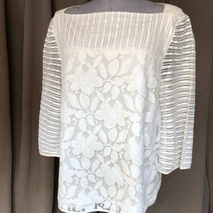 Tory Burch AS NEW white broderie anglaise top XL